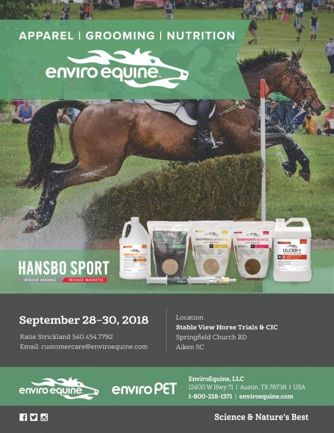 Enviro Equine & PET at Stable View Horse Trials and CIC